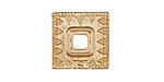 Zola Elements Matte Gold (plated) Decorative Square Bezel 7mm Flat Cord Slide 18mm