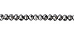 Antique Silver Crystal Faceted Rondelle 4mm