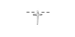 Sterling Silver Small Cross Pendant 6x10mm