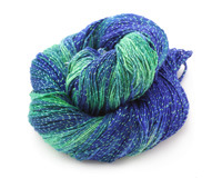 Deep Sea Sparkle Lace Weight Silk Yarn