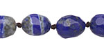 Lapis Faceted Nugget 13-14x11-12mm