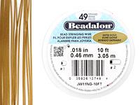 "Beadalon Satin Gold .018"" 49 Strand Wire 10ft."