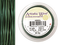 Artistic Wire Green 20 gauge, 15 yards