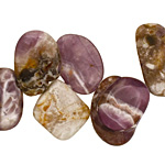 Dogtooth Amethyst Flat Polished Pebble Drop Graduated 8-24x10-39mm