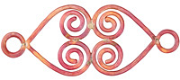 Patricia Healey Copper Double Spiral Heart Link 69x29mm