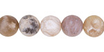 Dendritic Fossil Ocean Agate (matte) Round 10mm