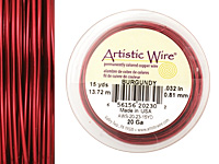 Artistic Wire Burgundy 20 gauge, 15 yards