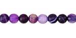 Purple Line Agate Faceted Round 6mm