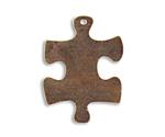 Vintaj Natural Brass Puzzle Piece 23x32mm