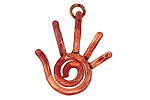 Patricia Healey Copper Right Hand Charm 26x29mm