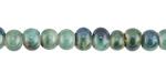 Ocean Blue Porcelain Tumbled Rondelle 5x7mm