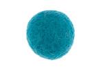 Turquoise Felt Round 20mm