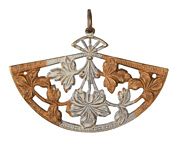 Vintaj Vogue Natural Brass Fanned Blossom 37x54mm