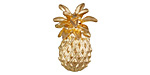 Zola Elements Matte Gold (plated) Pineapple Drop 3mm Flat Cord Slide 15x23mm