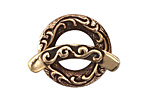 Saki Bronze Ocean Tide Toggle Clasp 24mm, 30mm bar
