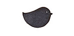 Lillypilly Black Leather Right Facing Chickadee 14x22mm