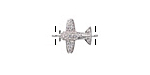 Clear Pave CZ Stainless Steel Airplane Focal Link 16x12mm