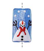 Grace Lampwork Juggling Snowman Kalera 21x38mm