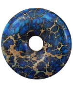 Midnight Blue Impression Jasper Donut 50mm