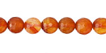 Carnelian (natural-orange) Faceted Round 8mm
