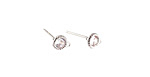 Clear CZ Stainless Steel Disc w/ Loops Post Earring 5x7mm