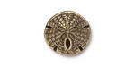 TierraCast Antique Brass (plated) Sand Dollar Button 16mm