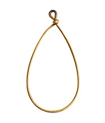Nunn Design Antique Gold (plated) Wire Frame Drop 24x47mm
