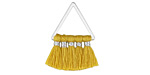 Goldenrod Small Fanned Tassel on Triangle Ring w/ Silver Finish 15x23mm