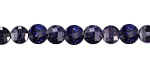 Blue Goldstone Faceted Puff Coin 6mm