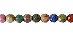 Earth Tones Gemstone Mix Faceted Round 6mm