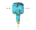 Turquoise (syn.) Barrel Guru Bead 16mm