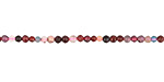 Multi Jewel Tone Gemstone Mix Faceted Round 2mm
