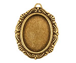 Stampt Antique Brass Damask Frame Oval Setting 18x25mm