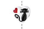 Grace Lampwork Loving Cat Heart 19x18mm