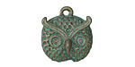 Zola Elements Patina Green Brass Owl Face Charm 19.5x21mm