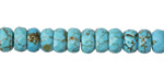Blue Magnesite Faceted Rondelle 5x8mm
