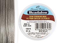 "Beadalon Bright .024"" 49 Strand Wire 100ft."