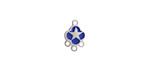 Classic Blue Enamel Stainless Steel Star Chandelier 1-3 Link 11x7mm