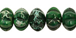 Dark Emerald Impression Jasper Pumpkin 9x14mm