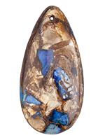 Midnight Blue Impression Jasper & Bronzite Teardrop Pendant 30x60mm