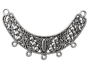 Zola Elements Antique Silver (plated) Studded Filigree Arc Focal Component 66x42mm