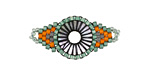 Citrus Grove Hand Woven Radiant Eye Focal 30x14mm