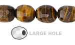 Tiger Eye Faceted Nugget (Large Hole) 16x12mm