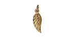 Nina Designs Natural Bronze Tiny Angel Wing (Left) Charm 5x19mmm
