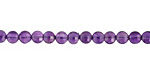 Amethyst Faceted Puff Coin 4mm