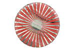 Lillypilly Red Sunburst Black Lip Shell Round Cabochon 31mm