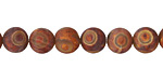 Tibetan (Dzi) Agate (rust) Matte Round 8mm