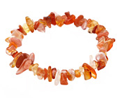 Carnelian (natural) Chips Stretch Bracelet