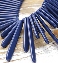 Indigo Acrylic Staggered Sticks 4x34-62mm