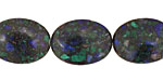 Azurite Malachite Flat Oval 20x15mm